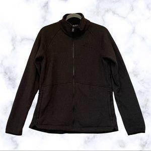 North Face large soft shell better sweater jacket fleece zip up black pockets